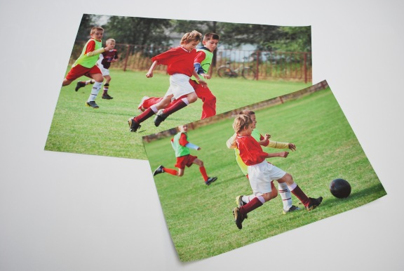 Photo of Boys Playing Soccer Printed as Custom Wall Stickers