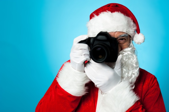 Photographer Santa with Camera