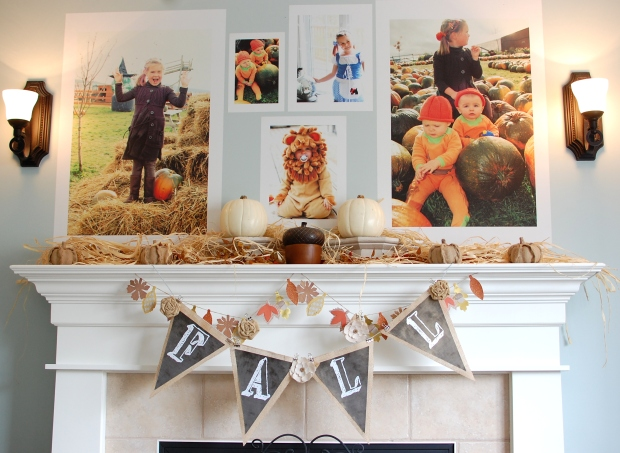 Posterjack Peel and Stick Wall Decals Decorate Fall Themed Mantle
