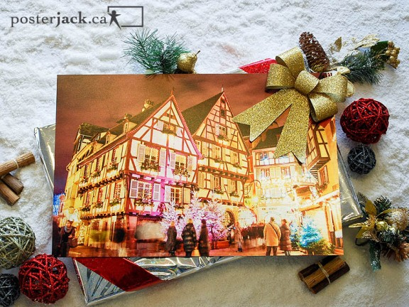 Posterjack Metal Print Christmas decorations