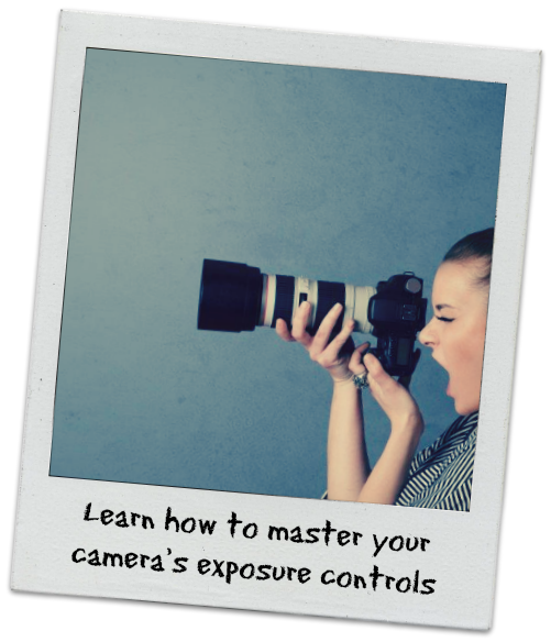 Polaroid Photo of Woman with DSLR Camera - Learn how to master your camera's exposure controls