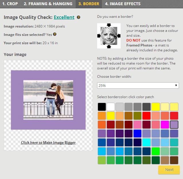 Posterjack Website Screenshot with Coloured Border