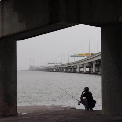 Fishing Under a Bridge