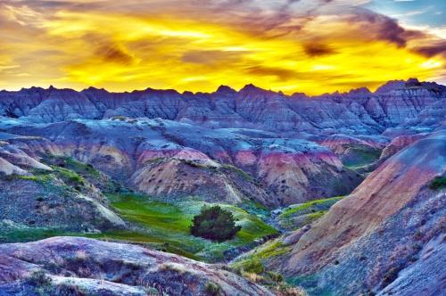 High Dynamic Range Sunset Landscape