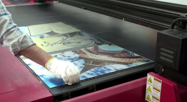 Behind the Scenes Look at a Photo Being Printed on Metal by Posterjack