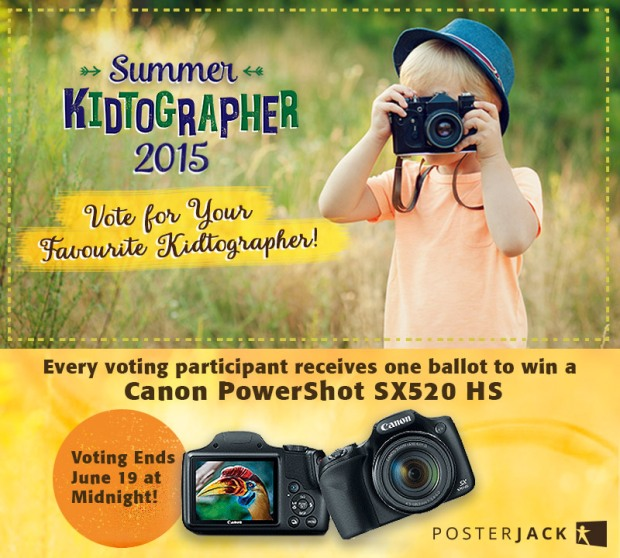 Kid Photographer with Camera - Posterjack Summer Kidtographer Contest