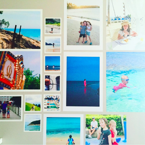 Narrow Hallway Decorated with Vacation Photos