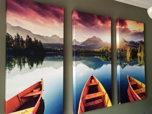 Triptych Three-Panel Canvas Print Posterjack