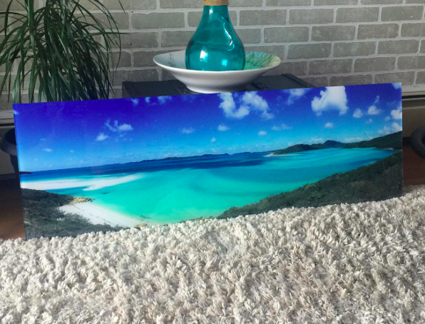 Beautiful Beach Photo Printed on Acrylic