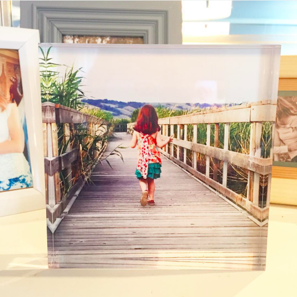 Photo of Little Girl Printed on Acrylic Block