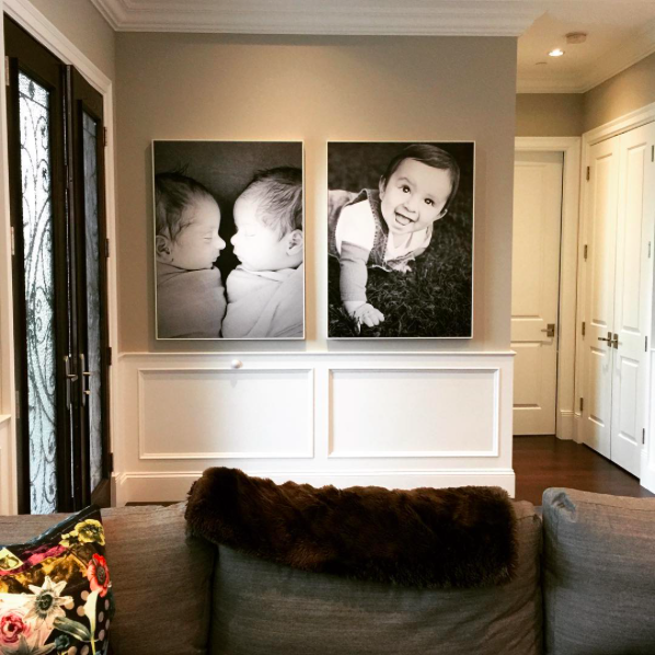 Two Large Photo Prints of Children
