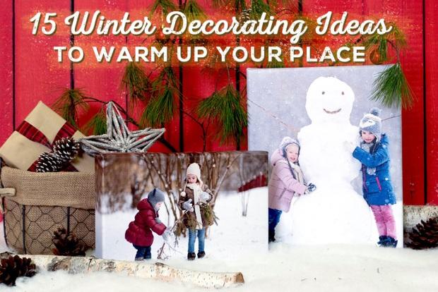 Winter Decor with Photo Art