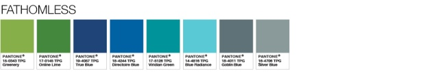 Pantone Fathomless Colour Palette to Pair with Greenery