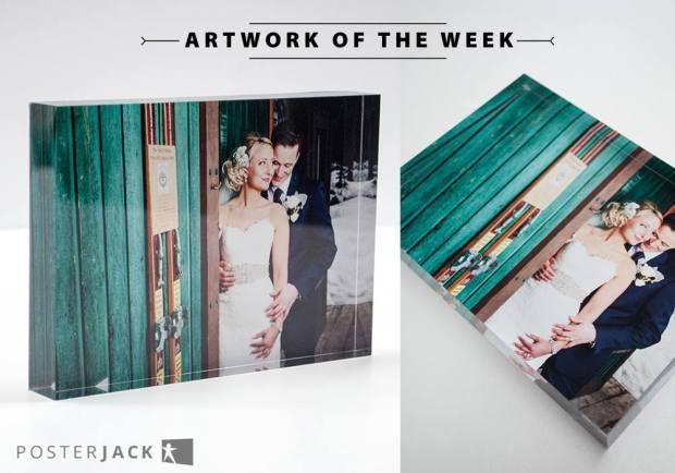Wedding photo desk decor
