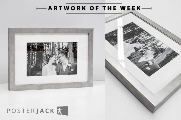 Black and White Wedding Photography Printed and Framed using Posterjack