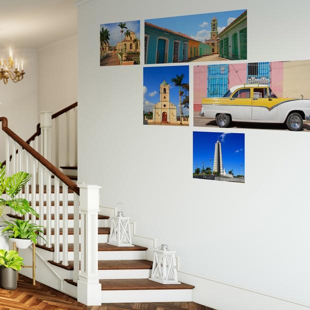 Posterjack Peel & Stick Wall Decals Arranged in Stairway